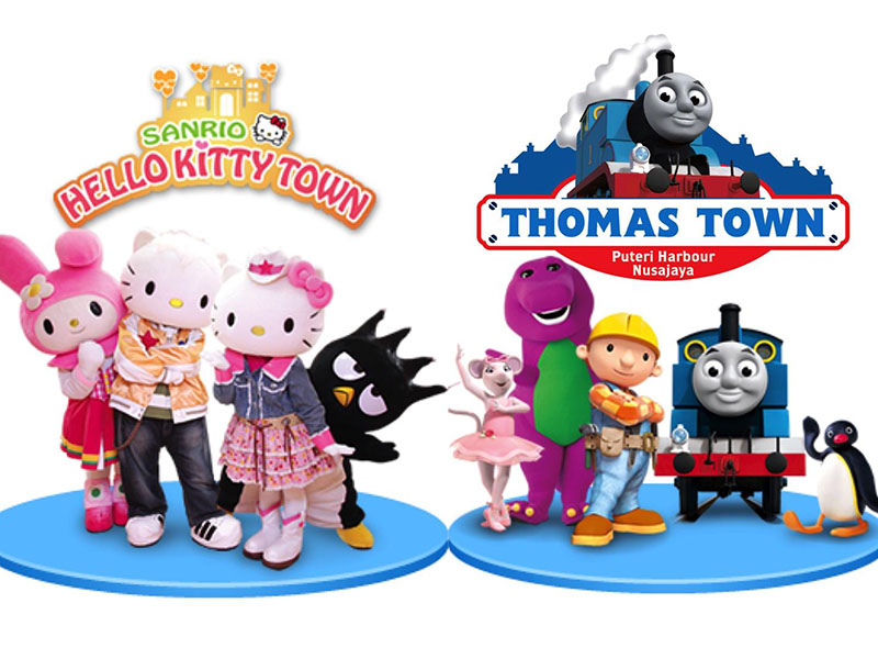 HELLO KITTY TOWN AND THOMAS TOWN PACKAGE